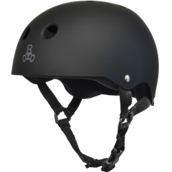 Triple 8 Brainsaver All Black Rubber
